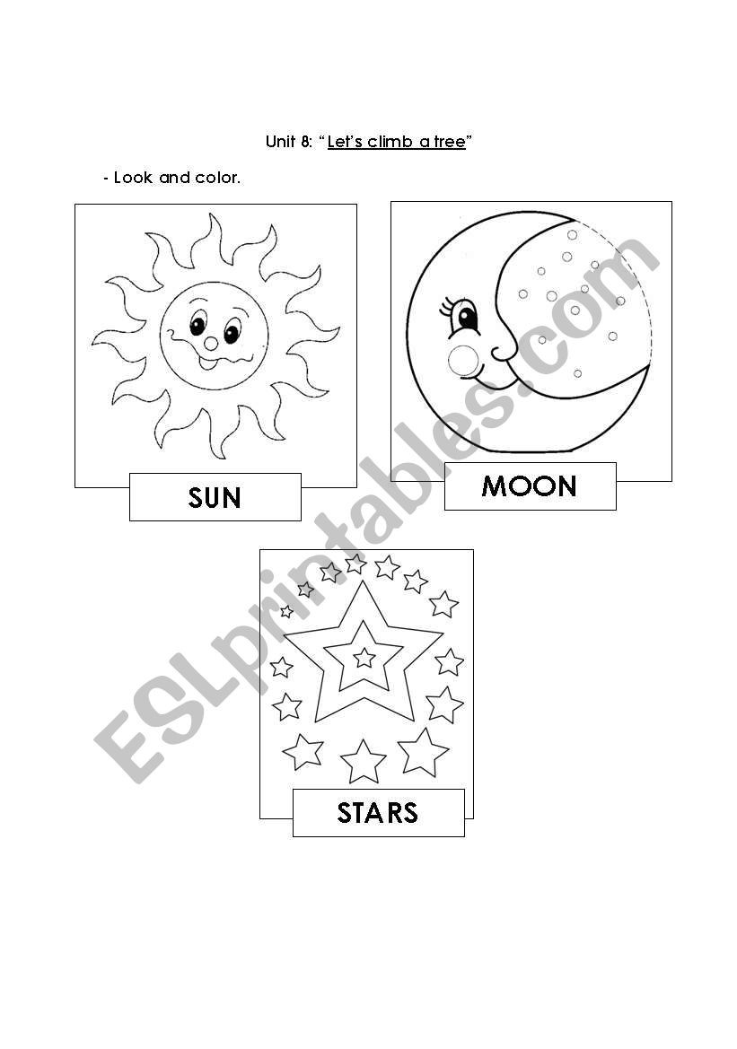 Worksheets On the Sun