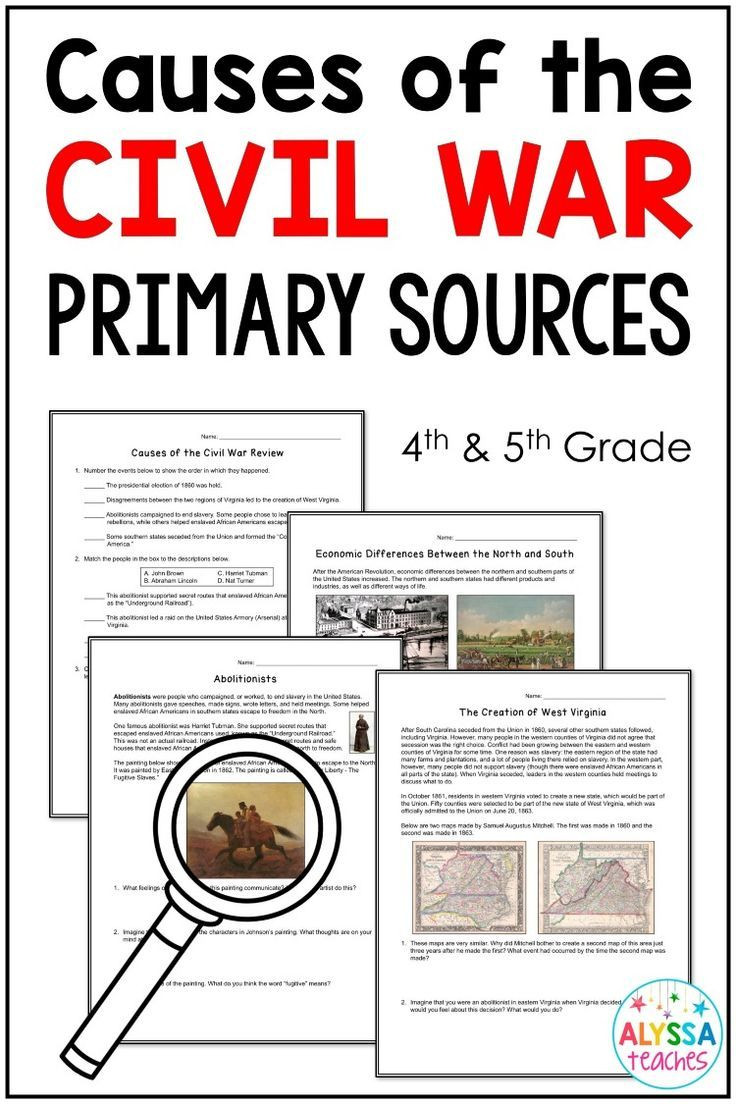 If you teach 4th or 5th grade history this set of causes of