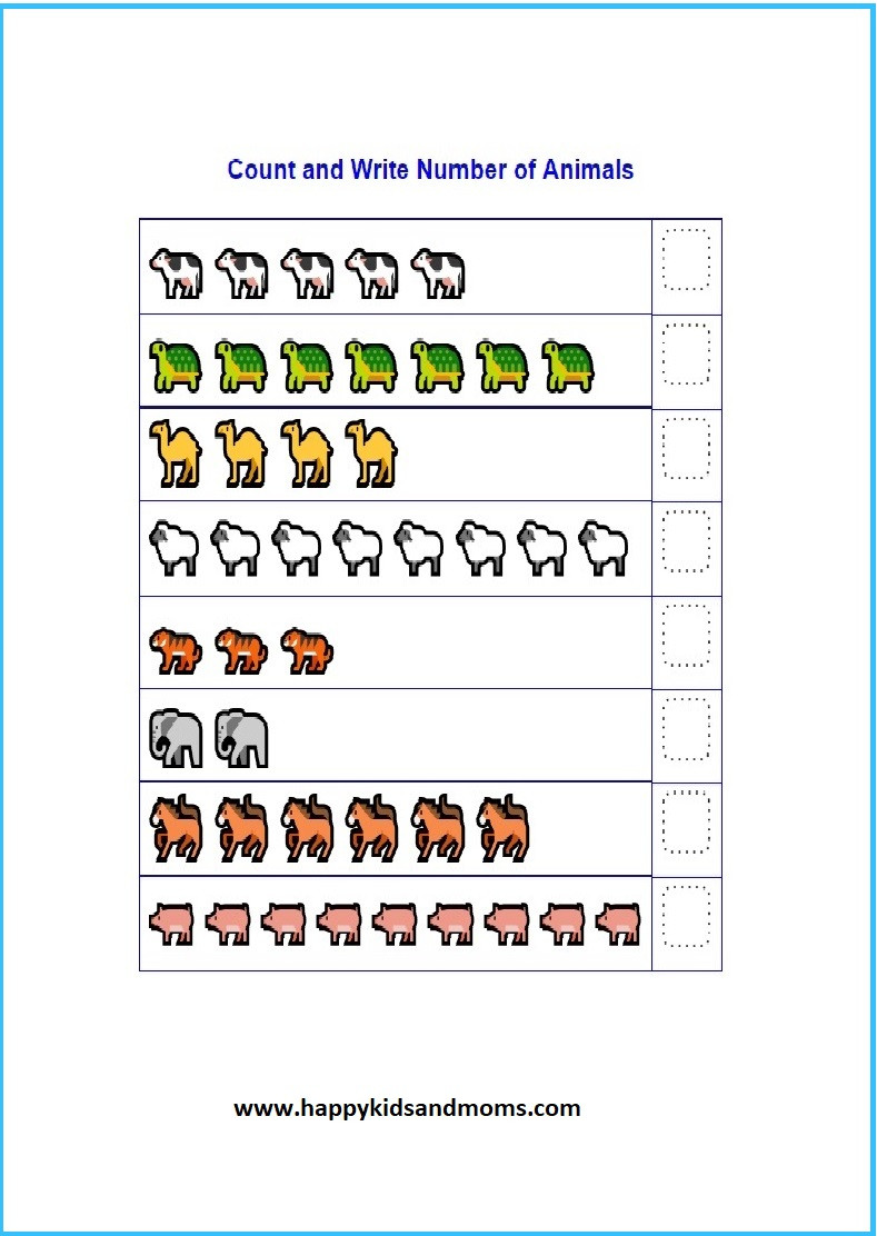 Counting On Addition Worksheets