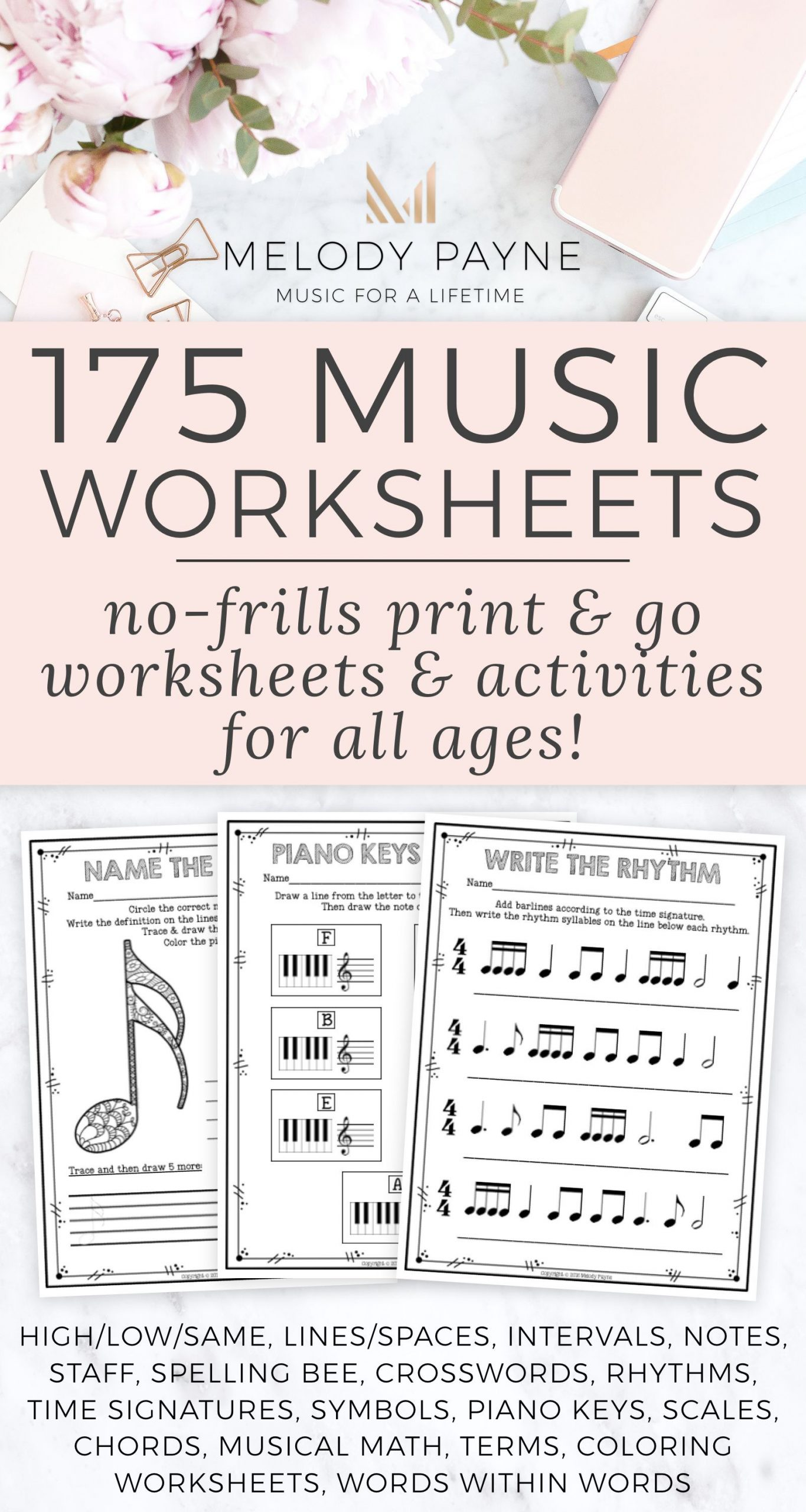 200 Music Distance Learning Music Worksheets PDF & Digital