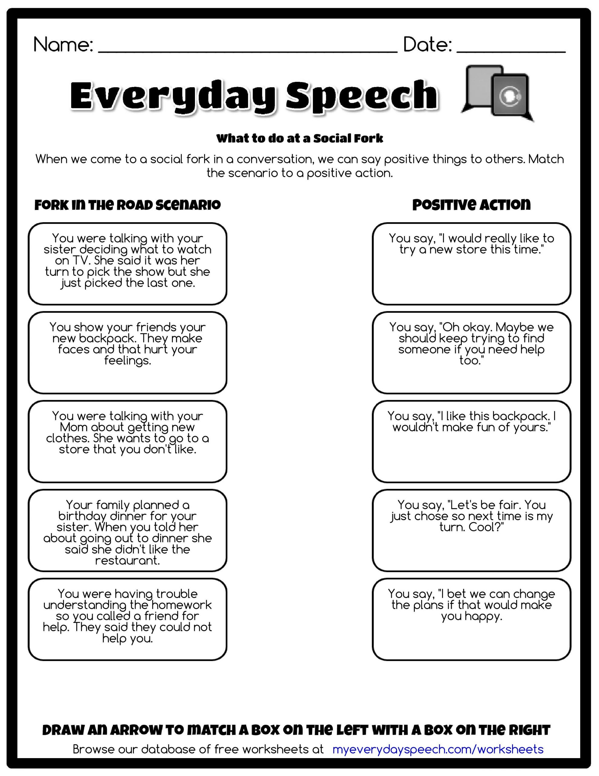 Check out the worksheet I just made using Everyday Speech s